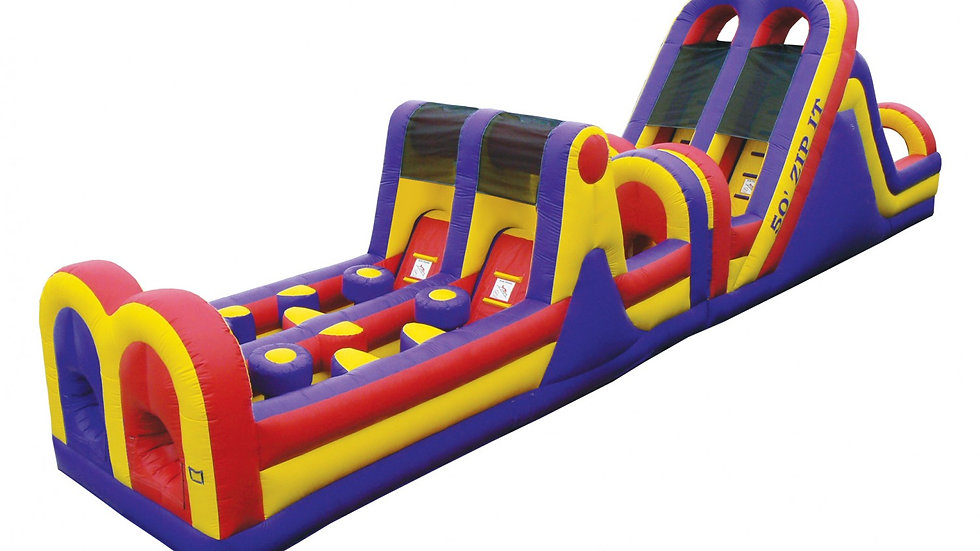 Zip It 50 Feet Obstacle Course