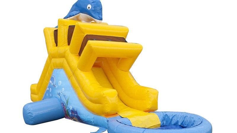 Inflatable Dolphin Garden Slide