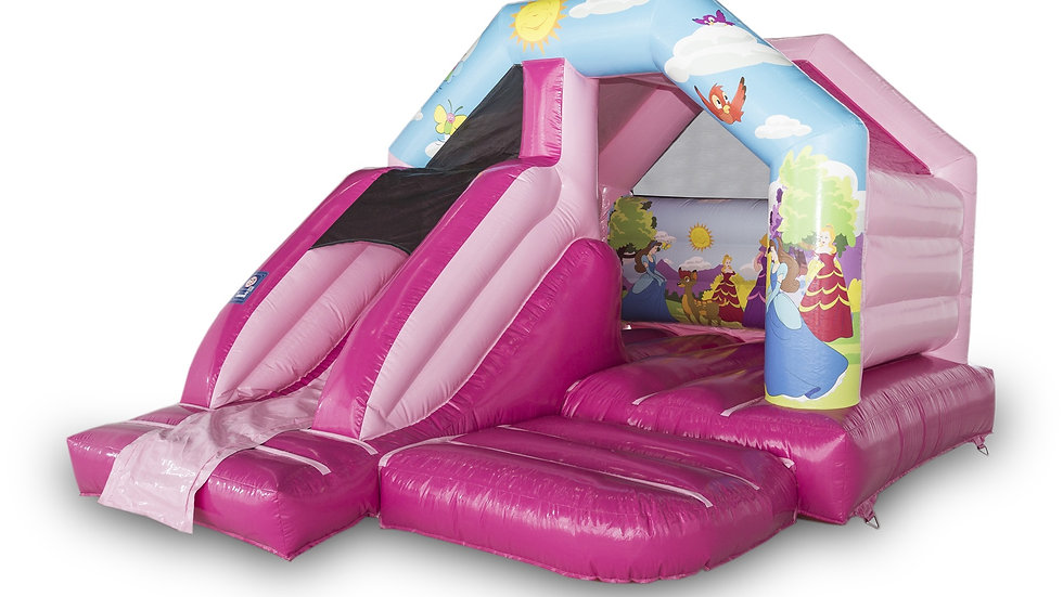 Princess Themed Jumpy Castle And Slide Combo
