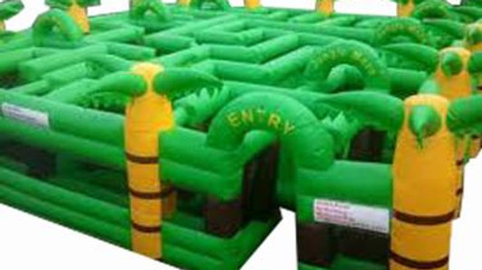 Inflatable Jungle Maze Game