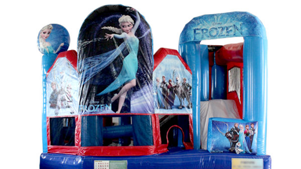 Inflatable Frozen 5 in 1 new design jumping   castle Combo