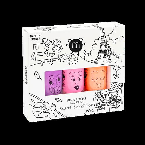 Coffret 3 vernis - Paris Néon