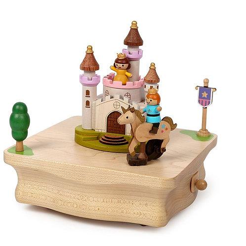 Boîte à musique en bois - Licorne, Princesse et Prince