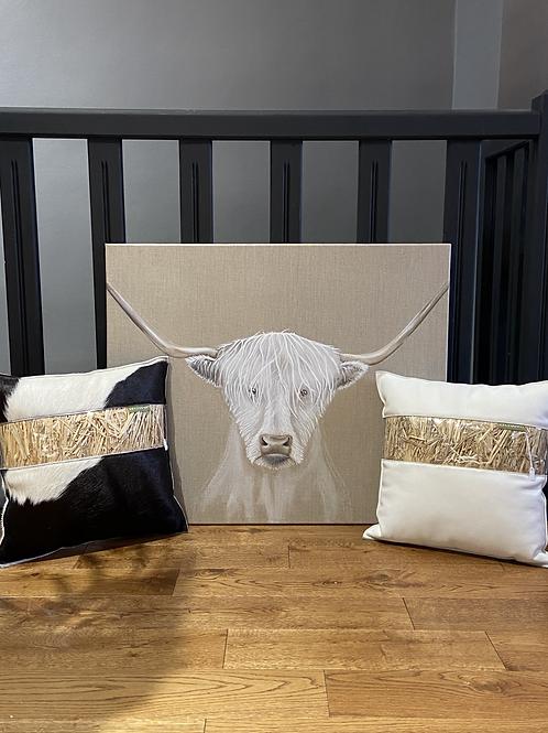 Coussins Cuir & Peau de vache