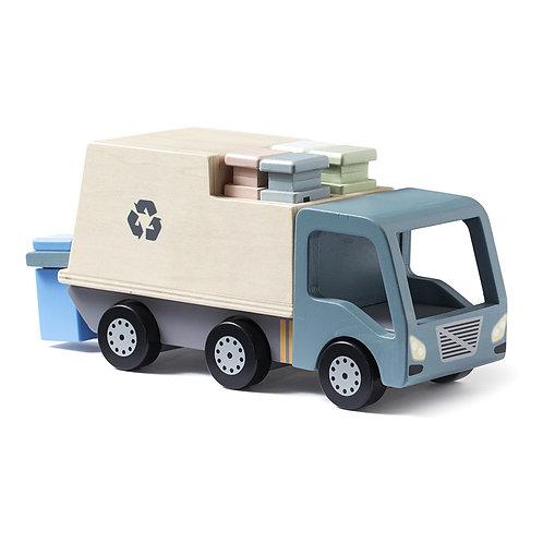 Camion Poubelle en bois - Recyclage