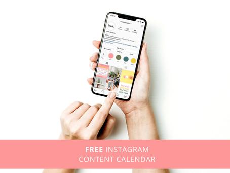 August: Free Instagram Content Calendar