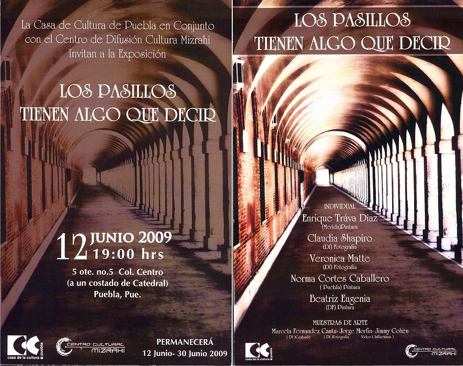 Shapiro, Flyer, 2009/06/12, Los Pasillos Tienen Algo Que Decir
