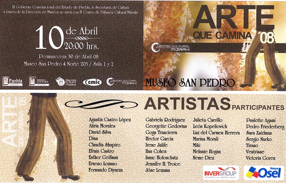 Claudia Shapiro, Flyer, 2008/04/10, Arte Que Gira 08, Museo Sn. Pedro, Puebla