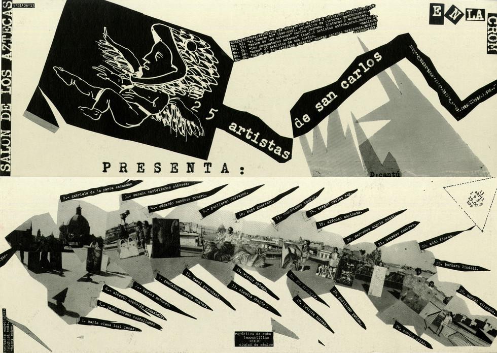 Claudia Shapiro, Flyer, 1989/04/13, 25 Artistas De San Carlos, Salón Des Aztecas