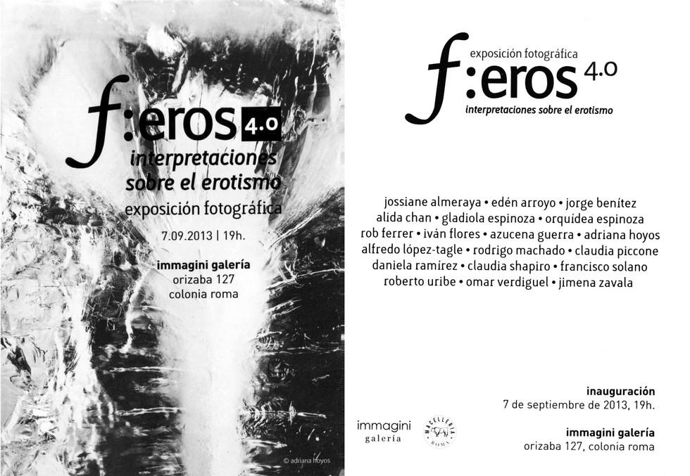 Shapiro, Flyer, 2013/09/07, f:eros 4.0, Immagini Galeria Mx.
