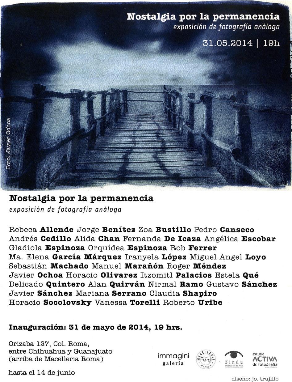 Shapiro, Flyer, 2014/05/31, Nostalgia Por La Permanencia
