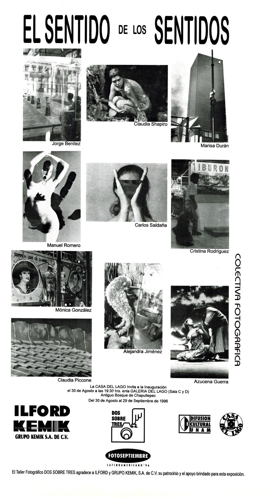 Claudia Shapiro, Flyer, 1996/08/30, El Sentido De Los Sentidos, Casa Del Lago