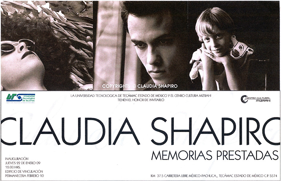 Shapiro, Flyer, 2009/01/22, Memorias Prestadas, UnivTecTecamac, Edomex.