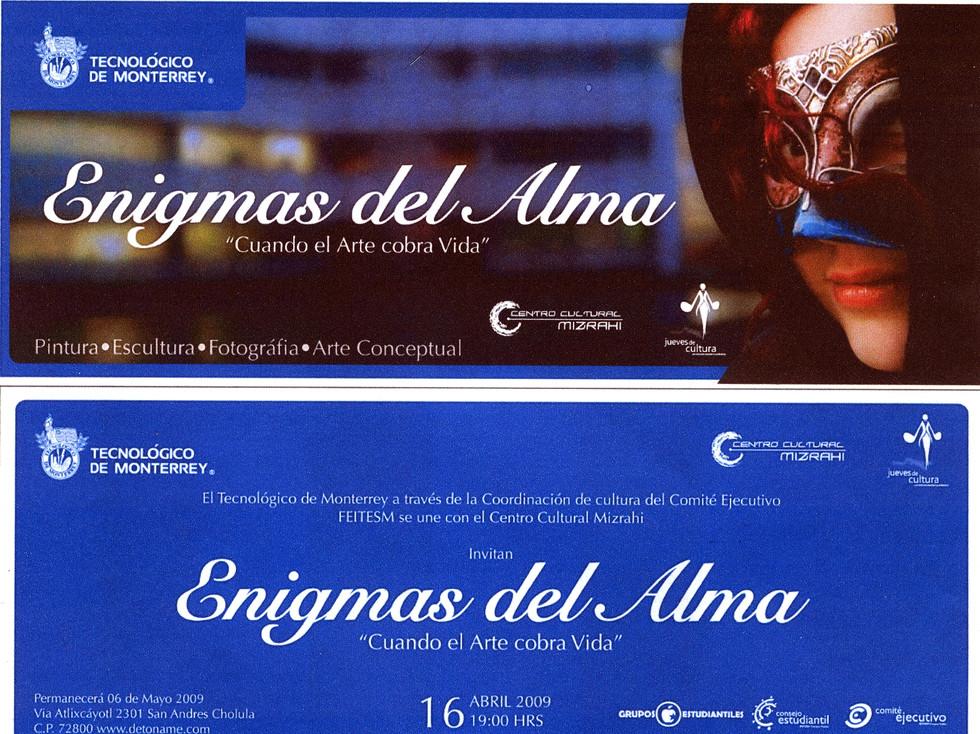 Shapiro, Flyer, 2009/04/16, Enigmas Del Alma, TecMty, Pue.