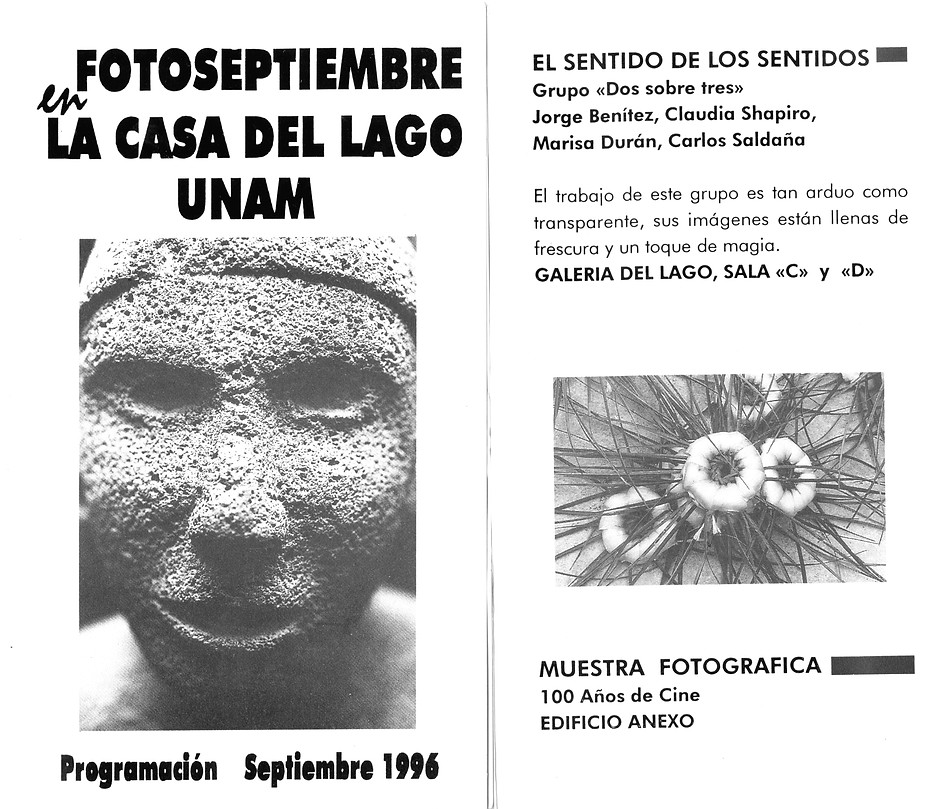 Claudia Shapiro, Flyer, 1996/09/01, Foto Septiembre, ESDLS, Casa Lago