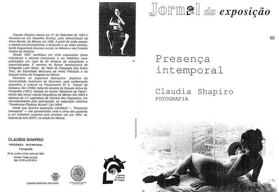 Claudia Shapiro, Flyer, 1995/06/29, Presencia Intemporal, Casa Cultura Lagos, Portugal