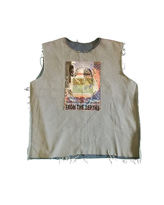 GREENSHEEP OVERSIZE DENIM VEST
