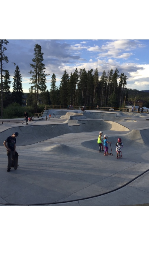 Skate/bike park at the city park