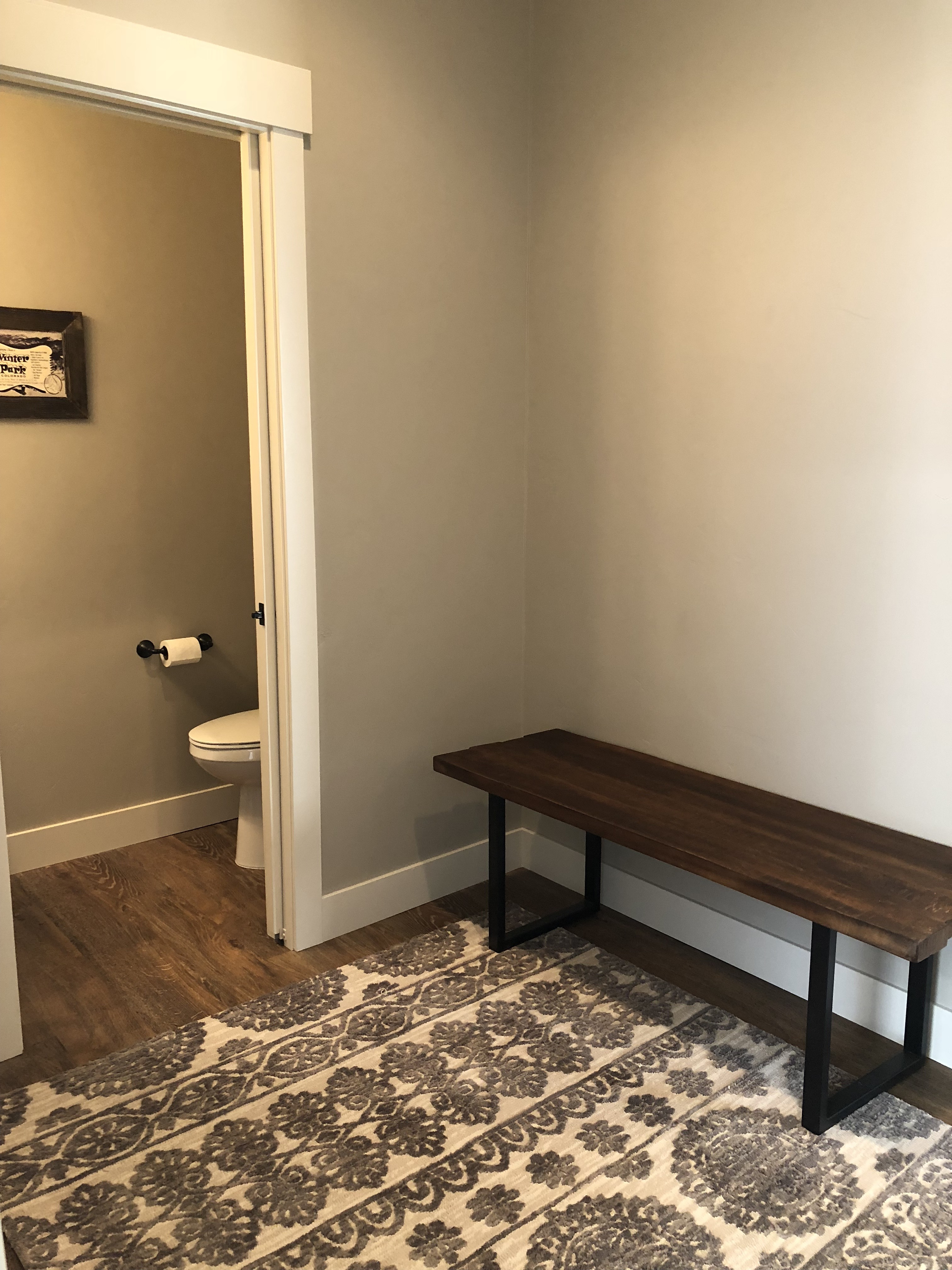 half bath off mudroom