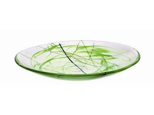 Kosta Boda Contrast Dish - Lime Green