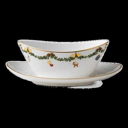 Royal Copenhagen Star Fluted Christmas Sauce Bowl