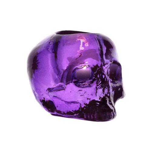 Kosta Boda Still Life Skull - Lilac