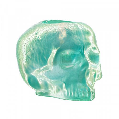 Kosta Boda Still Life Skull Votive - Light Green