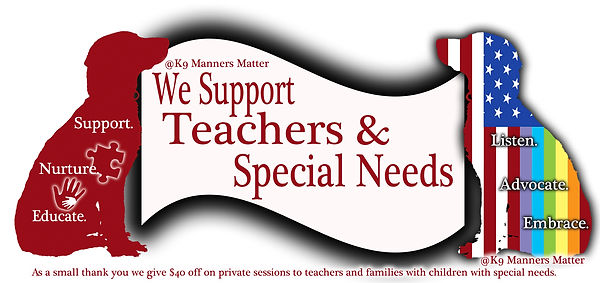 K9 Manners Matter suports teachers and children with specal needs