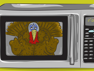 Steps for Cooking a 26 pound Turkey in a Microwave (yes, it's actually possible)