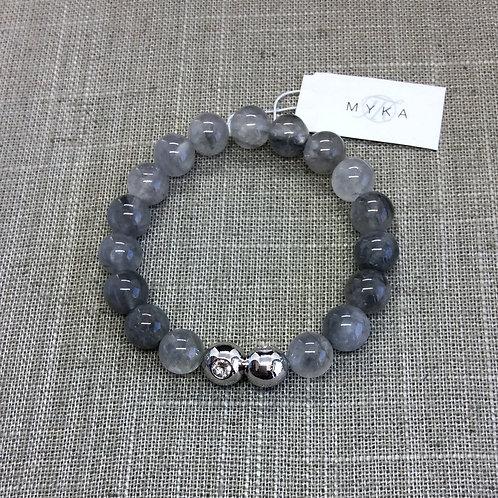 Myka Cloud Grey Agate Bracelet 4
