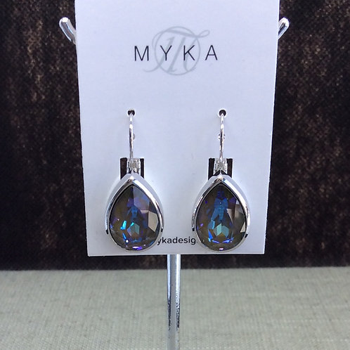 Myka Burgundy Delite Large Teardrop Earrings