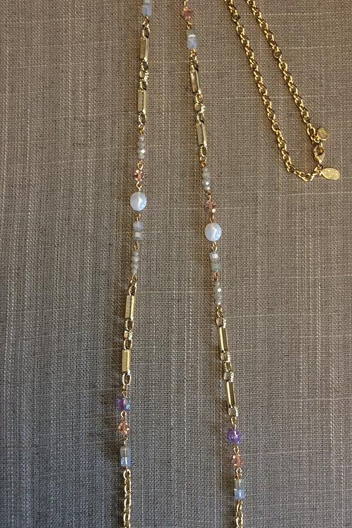 Myka Pink/Light Grey Chain