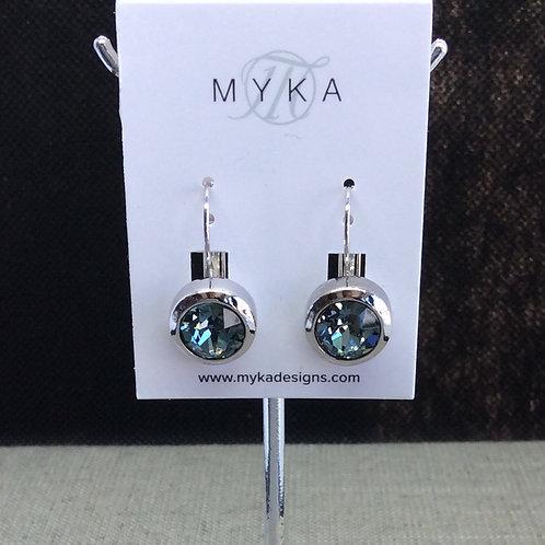 Myka Indian Sapphire Round Earrings