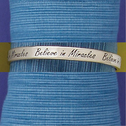 Believe in Miracles Bangle