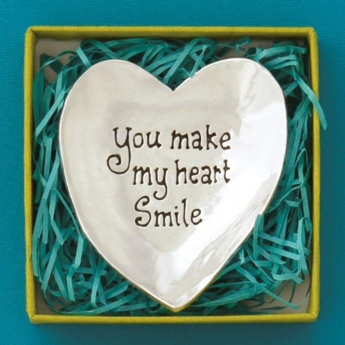You Make My Heart Smile Large Charm Bowl