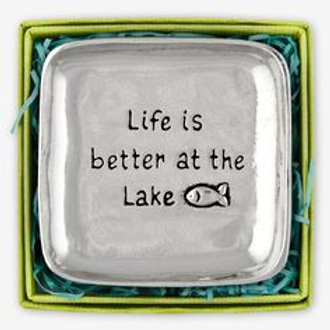 Life is Better at the Lake Large Charm Bowl