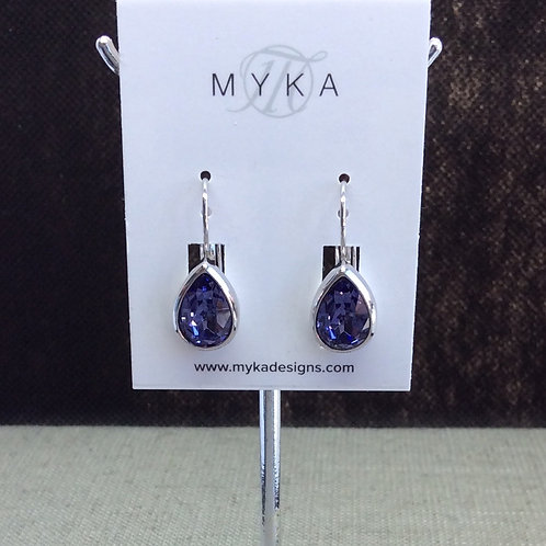 Myka Tanzanite Medium Teardrop Earrings