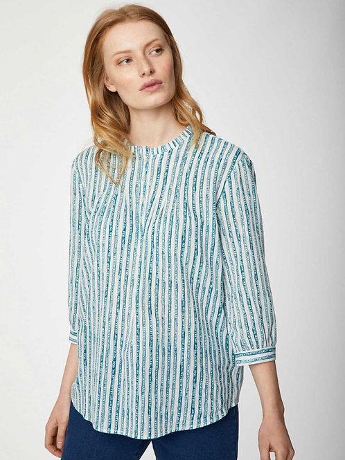 Gallone Organic Cotton Striped Print Blouse