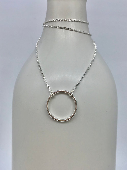 GAM Necklace with Silver Circle 8