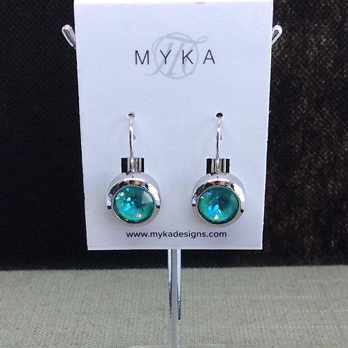 Myka Laguna Delite Round Earrings