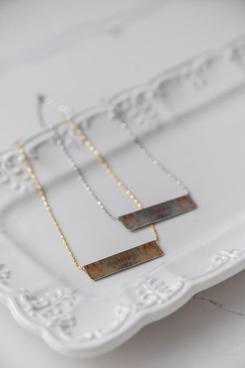 Weathered Bar Necklace
