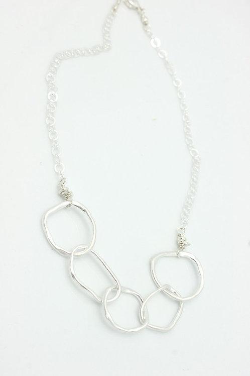 Fine Silver Multi-Link Necklace