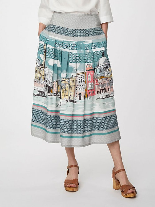 Canaletto Printed Midi Skirt