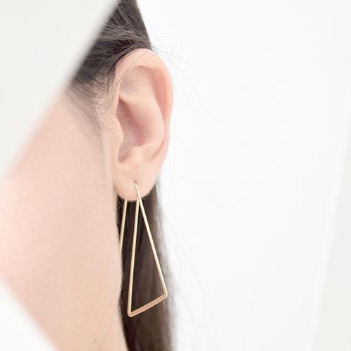 Slanted Hoop Earrings