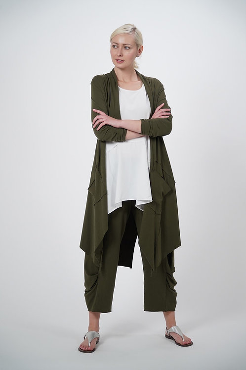 Knitted Cardigan with Long Sleeves and Pockets