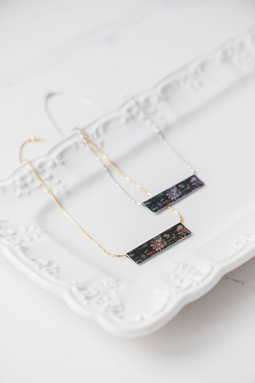Among the Wildflowers Bar Necklace