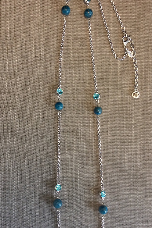 Myka Blue Apatite & Blue Crystal Chain