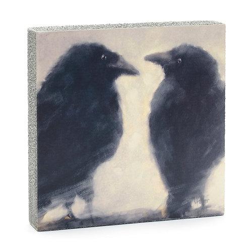 Talking Ravens Art Block