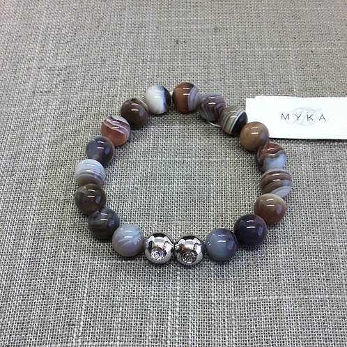 Myka Botswanna Agate Bracelet 6