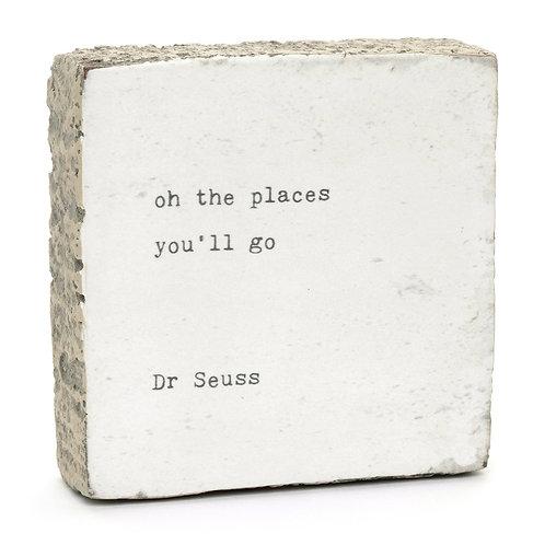 """""""Oh The Places..."""" Little Gem Art Block"""